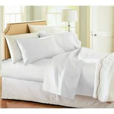 thread count white bed sheet set