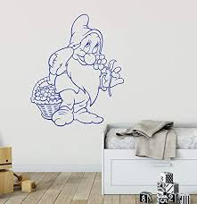 Amazon Com Cute Elf Wall Decal Nursery Decal Preschool Wall Decal Personalized Play Room Decal Gnome Vinyl Sticker Kids Room Decor Elf Art And Stick Wall Decals Home Kitchen
