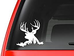 Amazon Com Customdecal Us Buck Lying Down H6 Deer Hunting Vinyl Decal Sticker Car Truck Laptop Netbook Window Automotive