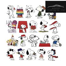 60pcs Funny Cute Snoopy Stickers For Laptop Car Styling Phone Luggage Bike Motorcycle Mixed Cartoon Pvc Waterproof Cartoon Decal Aliexpress