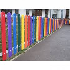 Rainbow Playground Fencing Fawns Playground Equipment Diy Playground Kindergarten Lesson Plans Playground Equipment