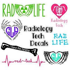 Radiology Tech Vinyl Decal Monogram Trefoil Sticker For Car Laptop Tumbler Ebay