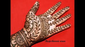 mehndi design easy full hand photo