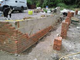 brick garden wall retaining wall