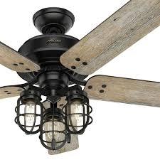 52 inch matte black finish ceiling fan