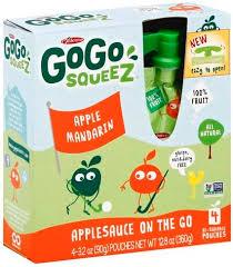 gogo squeez apple mandarin applesauce