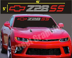 Parts Accessories Graphics Decals Ss Chevy Camaro Windshield Banner Vinyl Decals Graphics 45 X4 Dcaeagles Com