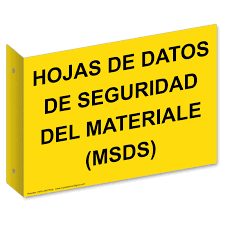 safety data sheets spanish sign nhs
