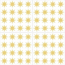 Wall Pops Metallic Gold Stars Wall Decal Set Of 2 Twpk2665 The Home Depot