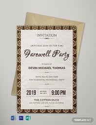 12 free farewell invitation templates