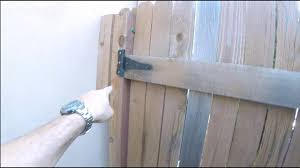 Fixing A Sagging Gate And Replacing A Fence Post The Handyman Youtube