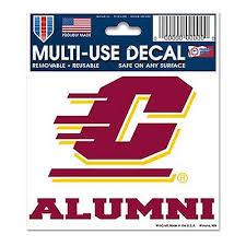 Central Michigan University Decal Multi Use Alumni 3 X4 The Split Mitt