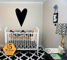 Big Heart Wall Decal Heart Decal Gold Heart Wall Decal Etsy