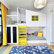15 Inspirational Examples To Refresh The Kids Room With Yellow Details Cool Bedrooms For Boys Cool Bunk Beds Bunk Bed Designs