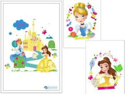 Disney Princess Laptop Sticker Set Cinderella Belle Mac Wall Stickers Ebay