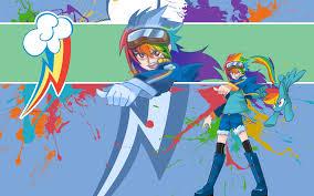 rainbow dash hybrid wallpaper by