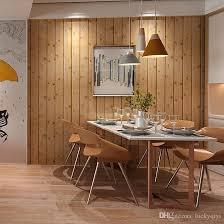 faux wood plank room wallpaper