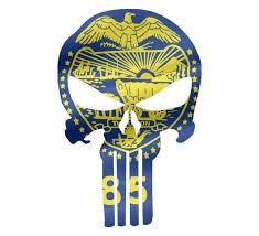 Punisher Skull Oregon Flag Window Decal Sticker Graphic Multiple Siz Buckup Tactical