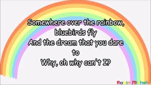 Israel Kamakawiwoʻole, Over the Rainbow-Lyrics-Text - YouTube