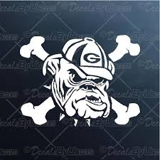 Bulldog Crossbones Decal Bulldog Crossbones Car Sticker Fast Shipping