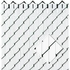 Pexco 6 Ft H X 70 In L 82 Pack White Chain Link Fence Privacy Slat In The Chain Link Fence Slats Department At Lowes Com