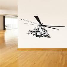 Wall Decals Vinyl Decal Sticker Kids Helicopter Sky K50 Black Shark Wa Stickersforlife