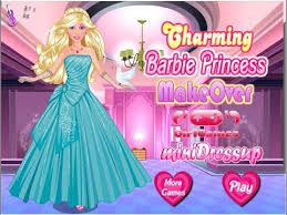 barbie princess makeover game