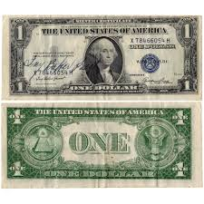 """1935-E """"Ivy Baker Priest"""" Courtesy Signed $1 Silver Certificate - Cris"""