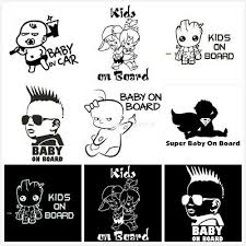 Baby On Board Funny Car Sticker Child Children Window Bumper Sticker Vinyl Decal Archives Statelegals Staradvertiser Com