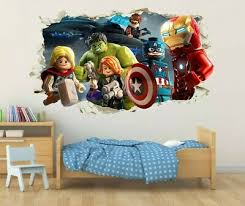 Lego Ninjago Wall Stickers 3d Window Vinyl Decals 58x99 Cm