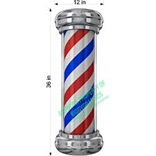 Amazon Com 36 Tall Barber Pole Vinyl Decal For Salon Shop Window Wall Nice Graphic Office Products