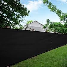 Amazon Com Love Story 5 X50 Black Fence Privacy Screen 88 Blockage Windscreen Mesh Fence Cover 200 Gsm Garden Outdoor