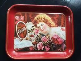 COCA COLA 75TH ANNIVERSARY METAL TRAY THE GIRL WITH ROSES Hilda ...