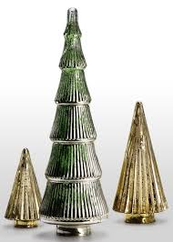 mercury glass tabletop trees