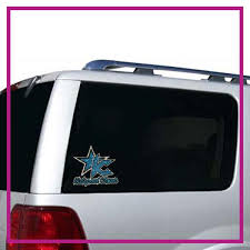 Kidsport Cheer Bling Clingz Window Decal All In Rhinestones Glitterstarz