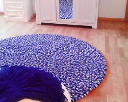 Royal Purple Round Carpet 90cm To 300cm Luxury Look And Feel