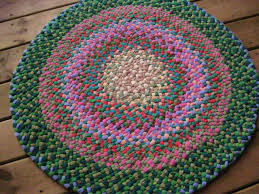 moss green and c pink braided round