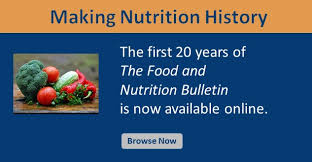 food and nutrition bulletin sage journals