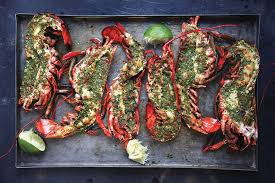 grilled lobster with cilantro chile