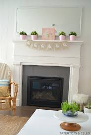 easter mantels that are perfect for spring