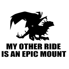 15 8cm 11 1cm My Other Ride Is An Epic Mount Car Sticker Vinyl Decal S4 0621 Vinyl Decal Sticker Vinylvinyl Car Decal Aliexpress