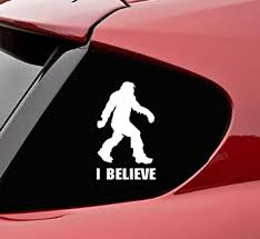 Amazon Com Slap Art Sasquatch I Believe Bigfoot Funny Vinyl Decal Sticker Automotive