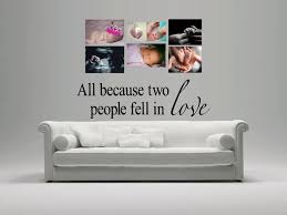 All Because Two People Fell In Love Wall Decal Michigan Decals Michigan Apparel Michigan Clothing