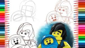 How to draw Cole with Baby from Lego Ninjago Sons of Garmadon - YouTube