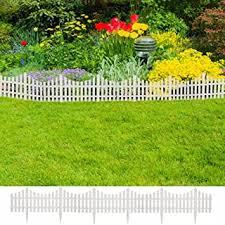 Amazon Com Garden Edging White Garden Edging Plant Support Structures Patio Lawn Garden