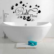 Shop Black Bath Time Bubbles Soak Relax Wall Stickers Decal Bathroom Home Art Decor Diy Online From Best Wall Stickers Murals On Jd Com Global Site Joybuy Com