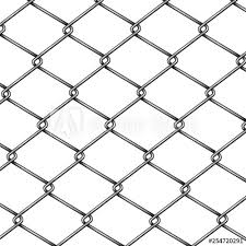 Chain Link Rabitz Fence Fragment Or Pattern 3d Realistic Vector Isolated On White Background Modern Construction And Territory Fencing Woven Or Wicker Material From Steel Metal Wire Illustration Buy This Stock Vector