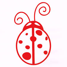 Cute Red Ladybug Car Window Decal