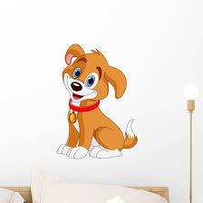 Cute Dog Wall Decal Wallmonkeys Com