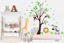 Nursery Wall Decals Safari Nursery Stickers Baby Room Decals Nurserydecals4you
